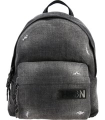 hogan backpack hogan backpack in used denim with logo