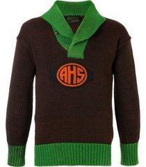 fake alpha vintage 1920s school sweater - brown