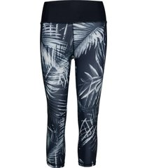gapfit high rise print capris in sculpt revolution leggings blå gap