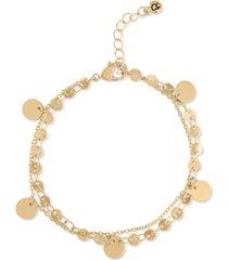 rachel rachel roy gold-tone shaky charm flex bracelet