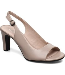 elevate 75 sleek sandal shoes heels pumps sling backs beige ecco