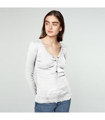 zanzea algodón de las mujeres tops 2018 más el tamaño blusas moda kinitted camisas de manga larga con cuello en v atractivo strech sólido blous blusas femininas blanca -blanco