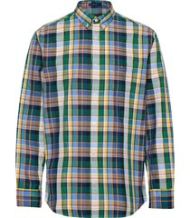 d1. oxford plaid reg bd skjorta casual blå gant