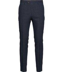 1838 - craig normal kostuumbroek formele broek blauw sand