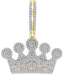 diamond crown pendant (1 ct. t.w.) in 10k gold