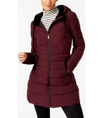 inc velvet-trim puffer coat, created for macy's
