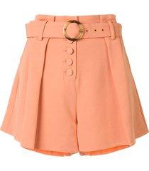 jonathan simkhai lena crepe shorts - orange