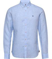 douglas linen shirt overhemd casual blauw morris