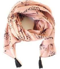 pañuelo leopardos rosado i-d