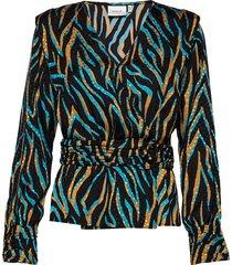 uzmagz blouse ye19 blouse lange mouwen multi/patroon gestuz