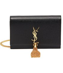 'kate' chain leather wallet crossbody bag