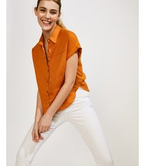 camisa naranja portsaid lino ohnest windy