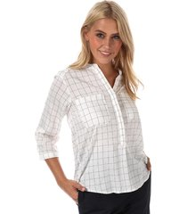 womens erika checker 3 quarter sleeve shirt