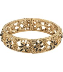 2028 gold-tone stretch bracelet