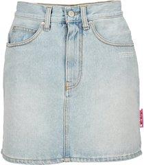 off-white off white high-waist denim skirt