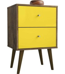 módulo 450 mb2015 madeira rústica/amarelo móveis bechara