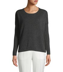 ribbed-sleeve cashmere sweater