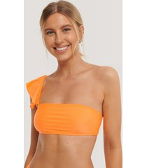 na-kd swimwear bikiniöverdel - orange
