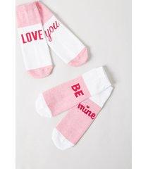 lane bryant women's ankle socks 2-pack - graphic onesz petal pink