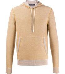 ermenegildo zegna fine knit hoodie - yellow