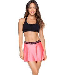 falda deportiva mujer babalú poliamida-25 coral neón 93893