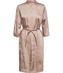 flex dress knälång klänning rosa hope