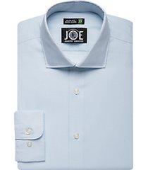 joe joseph abboud repreve® light blue check slim fit dress shirt