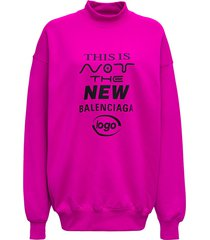 balenciaga pink cotton sweatshirt with print