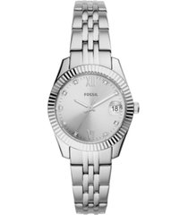 fossil women's scarlette mini stainless steel bracelet watch 32mm