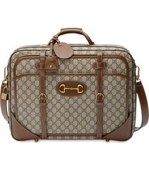 gucci gucci 1955 horsebit suitcase - brown