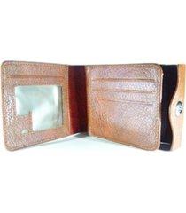 billetera multifuncional hombres cuero - color marron