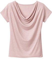 shirt met watervalhals, roze 44