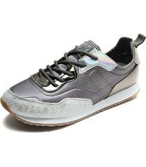 tenis moda plata/gris paris hilton ph52-b