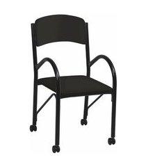 cadeira de escritório secretária lenor preta