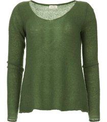 fijngeweven wollen trui nani  groen