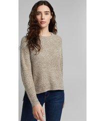 sweater mujer texturado liso khaki esprit