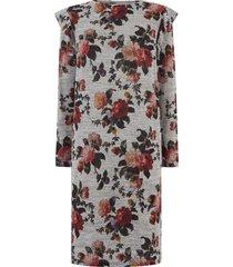 jurk met herfstprint