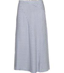 midi length skirt in bias cut rok knielengte blauw scotch & soda