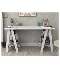 mesa escrivaninha branco lilies móveis