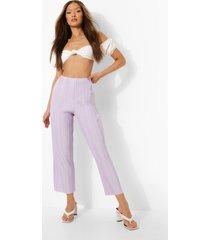 plisse wide leg culottes, lilac