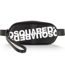 dsquared2 designer handbags, dsquared2 printed black calf leather pill belt bag