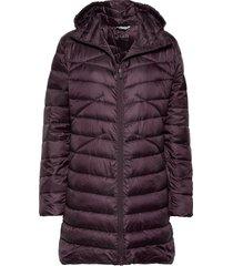 kataja w+ quilted jacket gevoerde lange jas rood halti