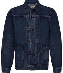 lmc type ii worn trucker lmc y jeansjack denimjack blauw levi's made & crafted