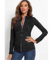blouse met luipaard details