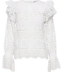 marta blouse blouse lange mouwen wit by malina