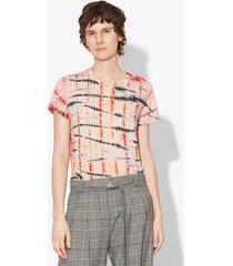 proenza schouler tie dye short sleeve t-shirt peach/orange/white xs