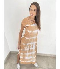 vestido beige odas batik