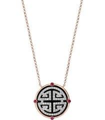 effy 14k two-tone gold & multi-stone pendant necklace