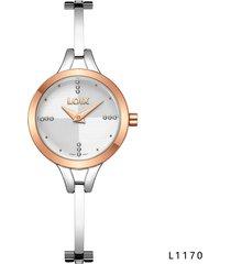 reloj loix ref l1170-03 plata/rosa