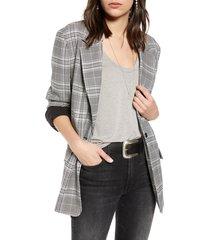 women's treasure & bond oversize patterned blazer, size medium - black
